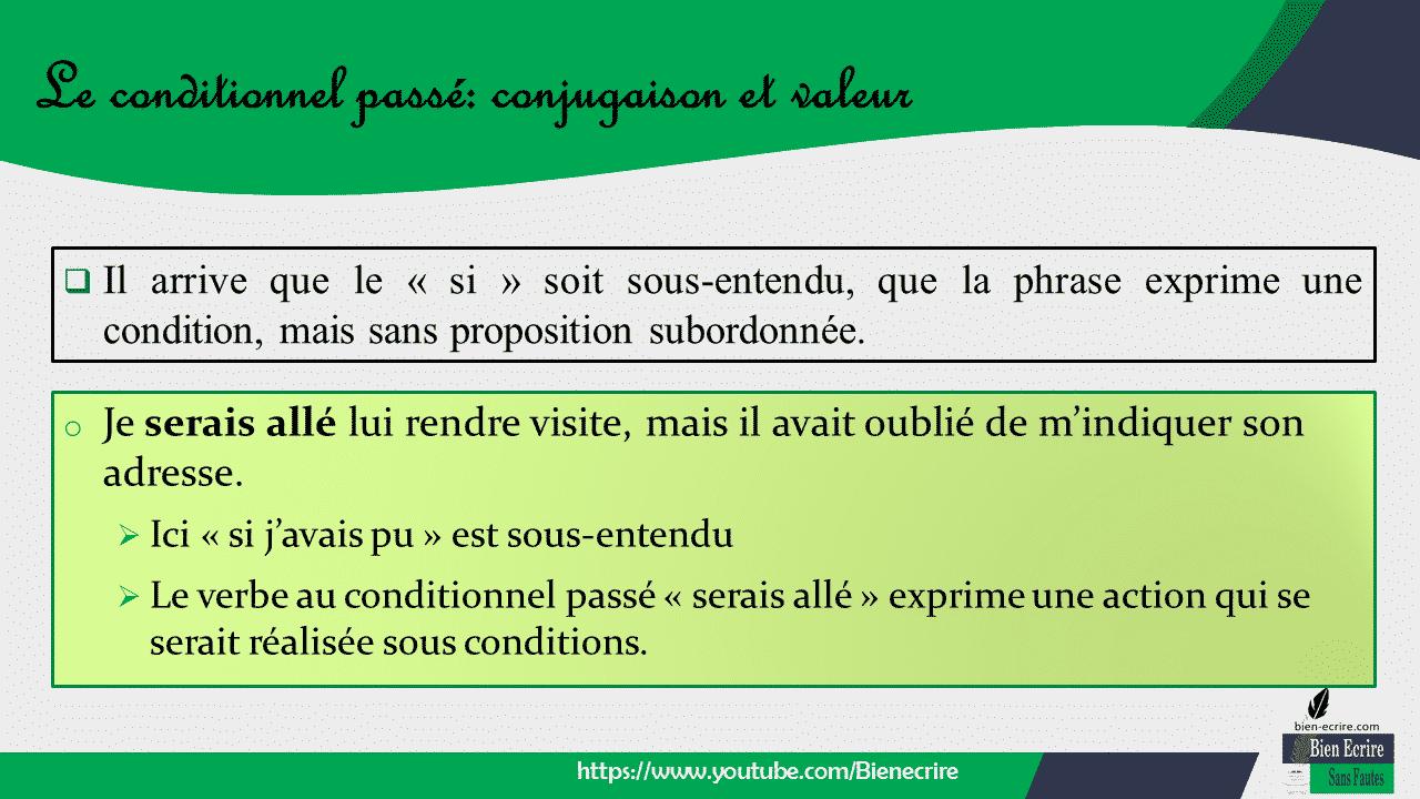  Il arrive que le « si » soit sous-entendu, que la phrase exprime une condition, mais sans proposition subordonnée.