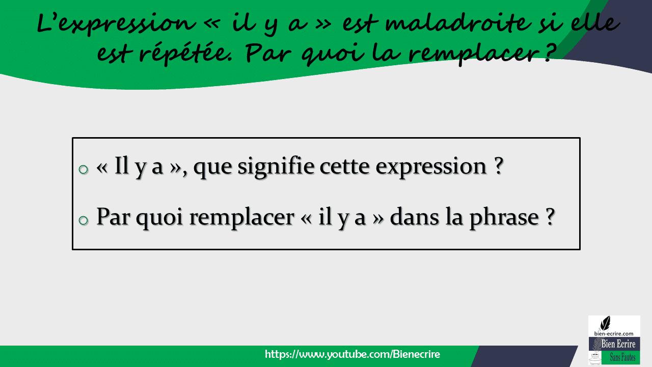 Expression 3 arr ter de r p ter l expression il y a bien crire - Par quoi remplacer l origan ...