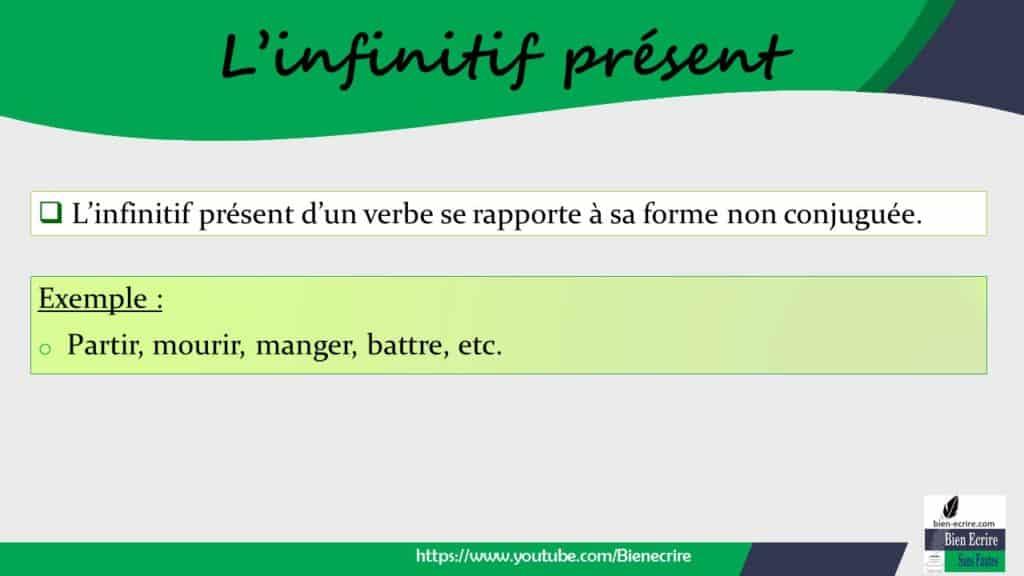 Accord Car >> Conjugaison de l'infinitif 1 – infinitif présent