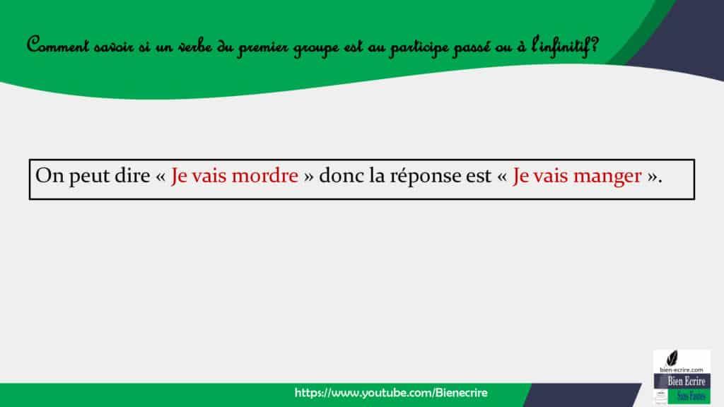 Participe Passe Ou A L Infinitif Version Tres Simplifiee Bien Ecrire
