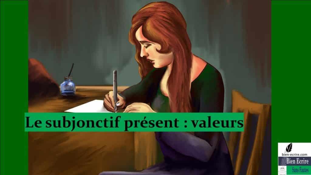 Le subjonctif présent : valeurs