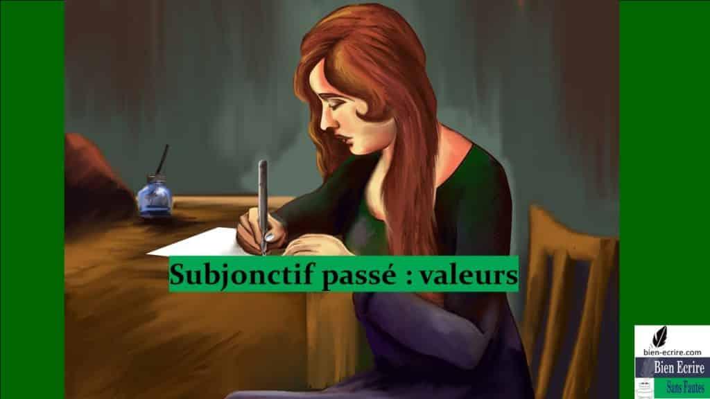 Subjonctif passé : valeurs