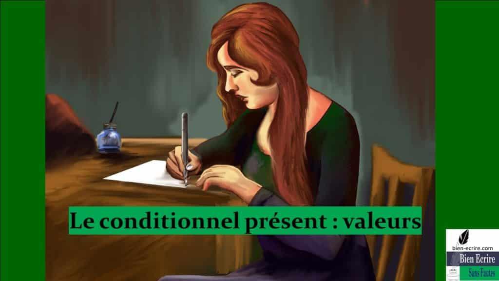 Le conditionnel présent : valeurs