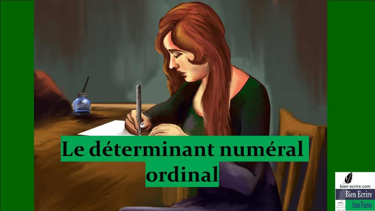 Déterminant 9 – numéral ordinal