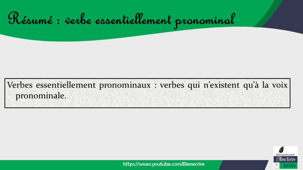 Verbe 10 Verbe Essentiellement Pronominal Bien Ecrire