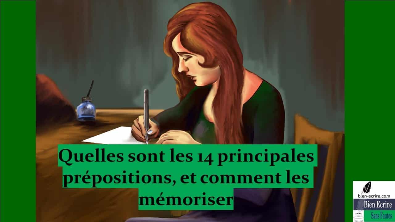 Préposition 2 – Mémorisation de 14 prépositions