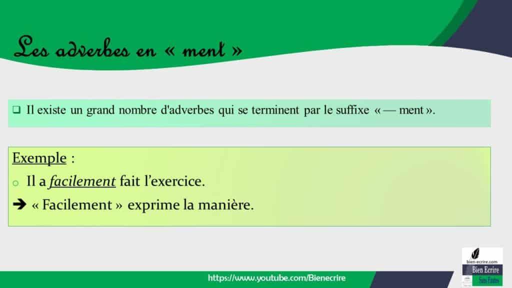 Adverbe 2 Adverbes En Ment Bien Ecrire