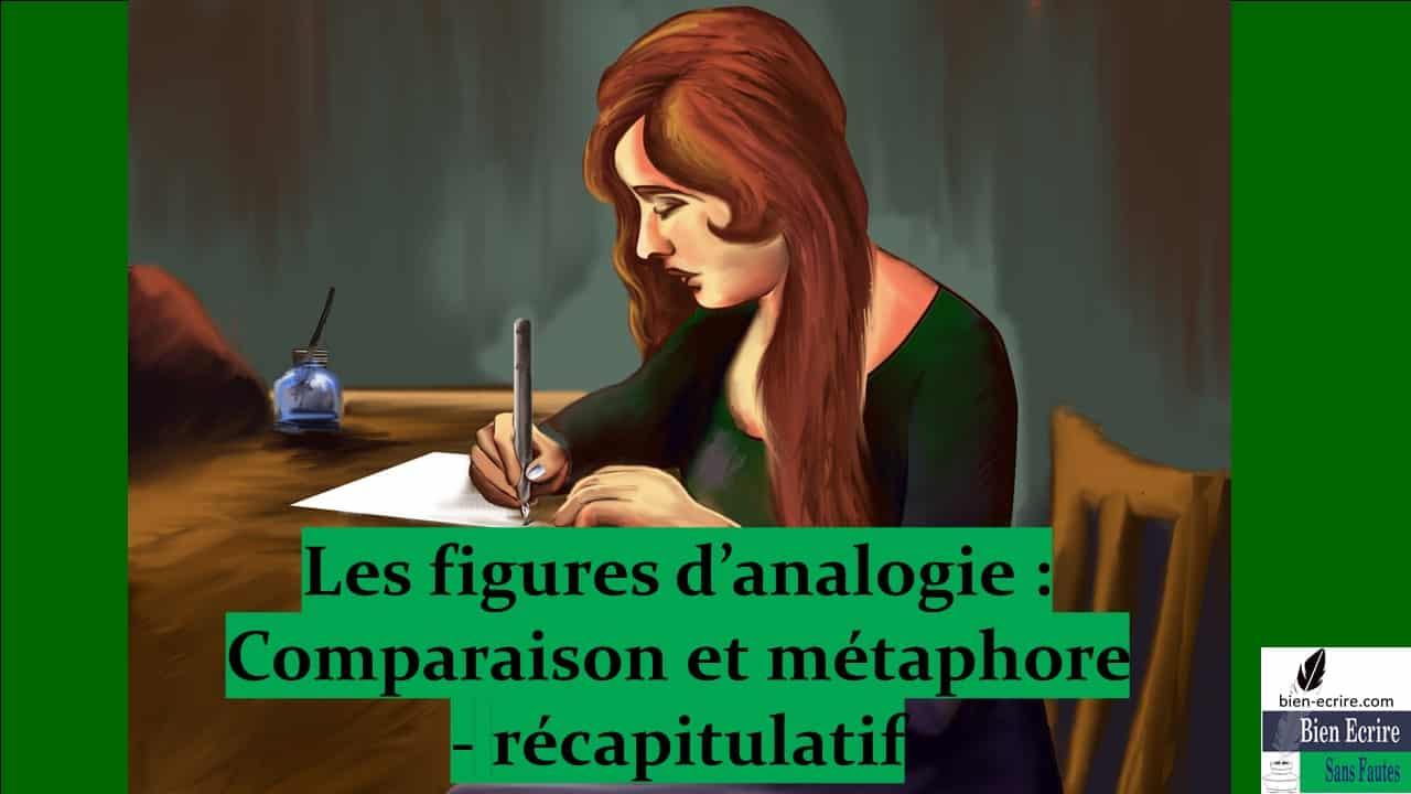 Figures d'analogie 6 – différence comparaison et métaphore