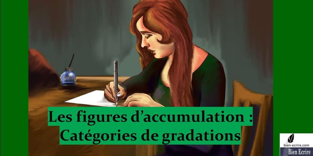 Figures d»énumération 2 – types de gradation