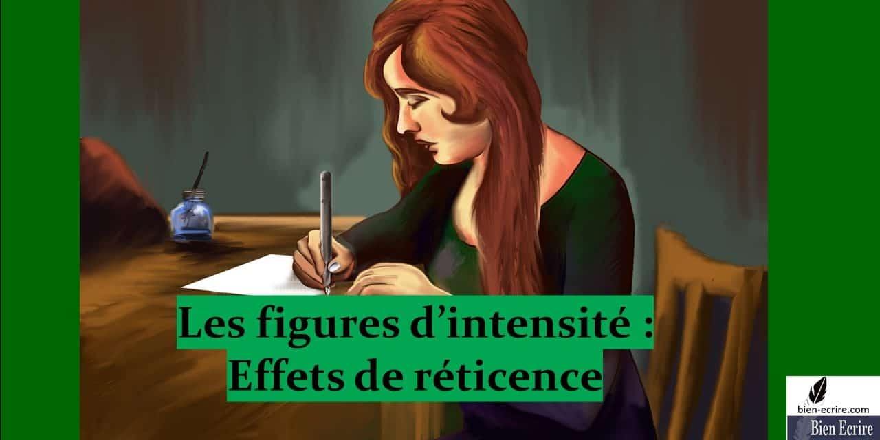 Figures d'intensité 4 – réticence, circonlocution, prétérition, suspension
