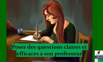 Poser une question claire et précise, dans un enseignement à distance
