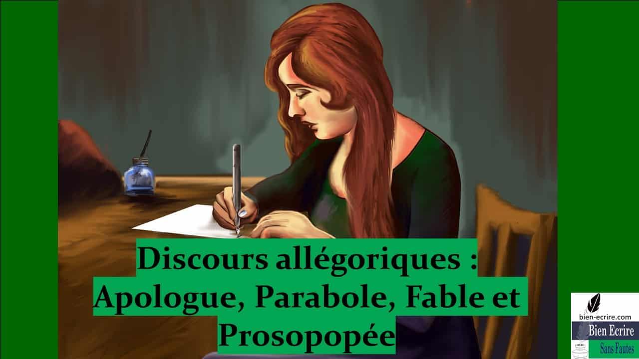 Figures d'analogie 11 – discours allégoriques