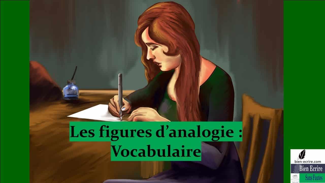 Figures d'analogie 2 – vocabulaire