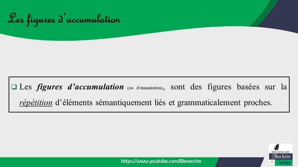 Figures d''énumération 1 - accumulation, gradation - Bien ...