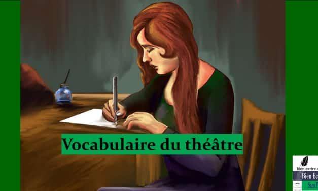 Le vocabulaire du théâtre