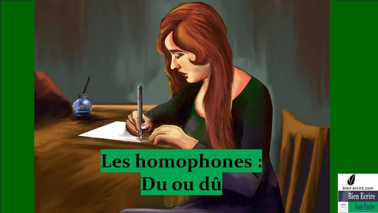 Homophone 7 – Du, dû