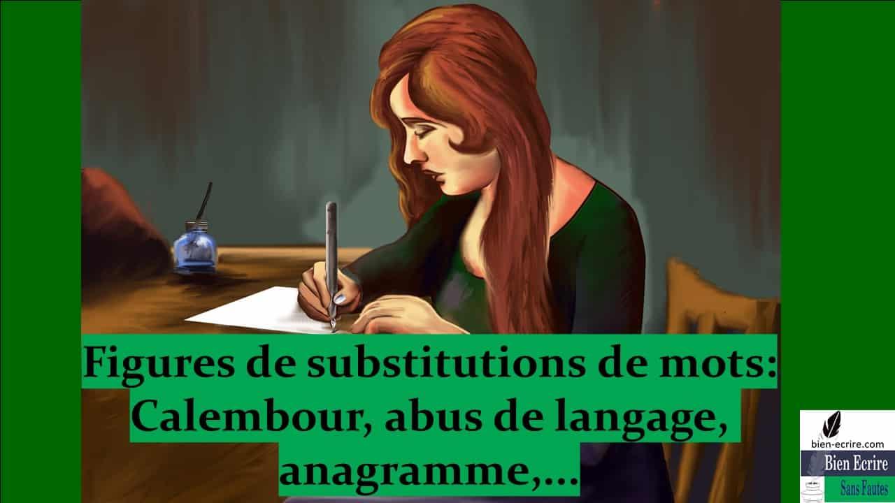 Manipulation de mots 3 – Substitution de mots : anagrammes, contrepèteries, calembours…