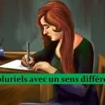 Noms pluriels 3 – avec une orthographe ou un genre différent