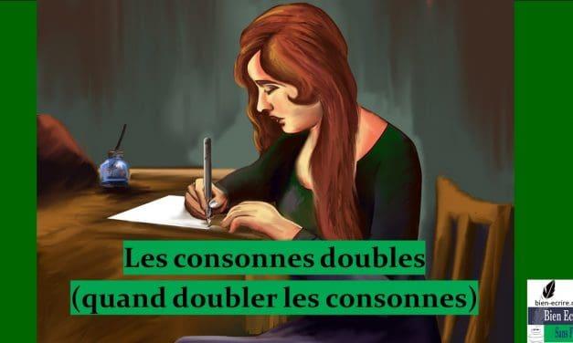 Orthographe 10 – doublement consonnes (bilan)